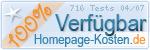 PixelX Webhosting Verfuegbarkeit 100% April 2007 bei Homepage-Kosten.de