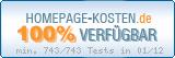 PixelX Webhosting Verfuegbarkeit 100% Januar 2012 bei Homepage-Kosten.de