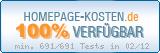 PixelX Webhosting Verfuegbarkeit 100% Februar 2012 bei Homepage-Kosten.de