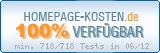 PixelX Webhosting Verfuegbarkeit 100% Juni 2012 bei Homepage-Kosten.de