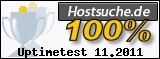 PixelX Webhosting Verfuegbarkeit 100% November 2011 bei Hostsuche.de