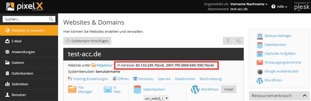 DNS Einträge in hosts-Datei | Hilfe | PixelX