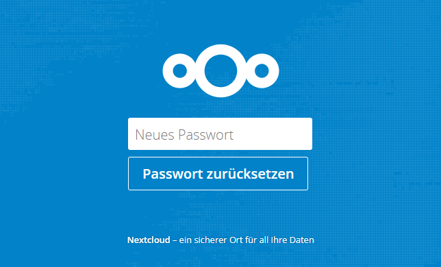 Nextcloud Passwort setzen